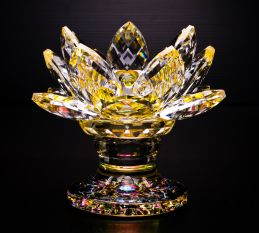Crystal Lotus 18petals w stand