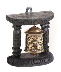 Wall mount 1 prayer wheel