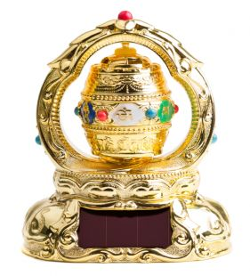 Solar Prayer Wheel w mantra