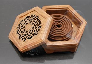 Rosewood hexagon incense