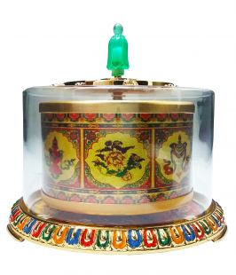Hand-spinned Prayer Wheel