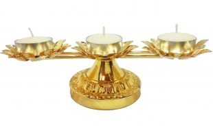 Single row 3lotus lamp stand (without the lamps)