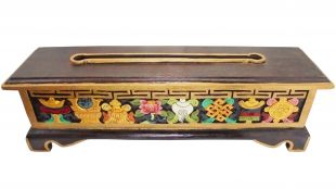 8-Aus. Symbols incense burner with holder (hand made) 47cm