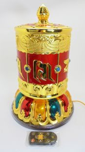 Six words Music Prayer Wheel electric with USB