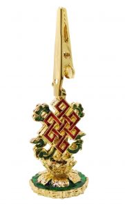 Auspicious Knot gold plated incense clip