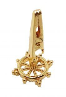 Dharma wheel gold plated incense clip (S)